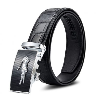 Mens Alligator Leather Ratchet Dress Belt
