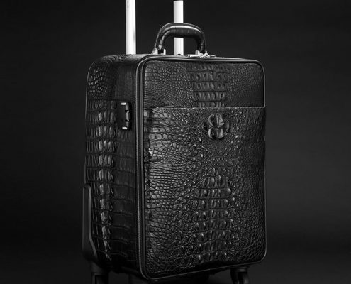 Men's Crocodile Leather Luggage