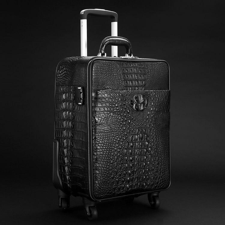 Men's Crocodile Leather Luggage