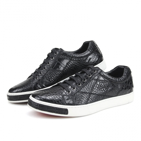 Men's Daily Fashion Crocodile Skin Sneakers