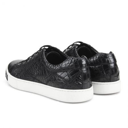 Men's Daily Fashion Crocodile Skin Sneakers-Heel