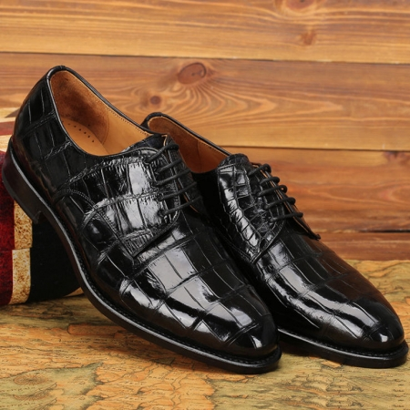 Premium Genuine Alligator Leather Lace-up Shoes for Men