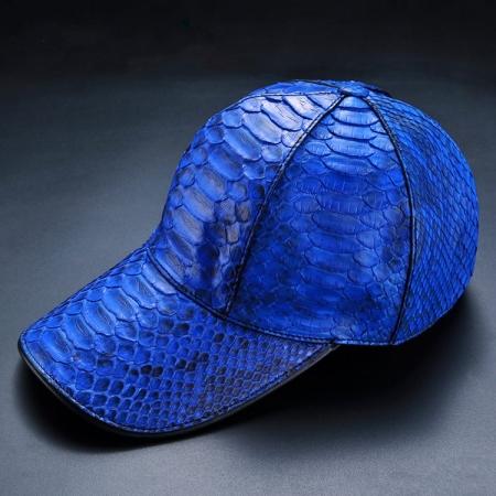 Python Skin Baseball Cap-Blue