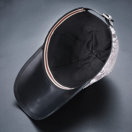 Python Skin Baseball Cap-Lining