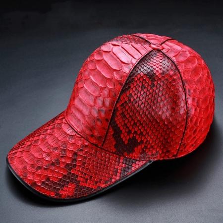 Python Skin Baseball Cap-Red