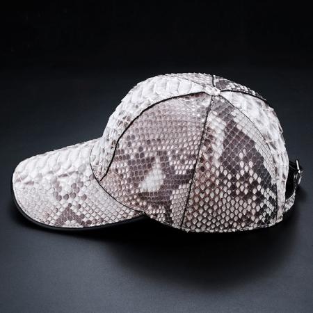 Python Skin Baseball Cap-White-Side