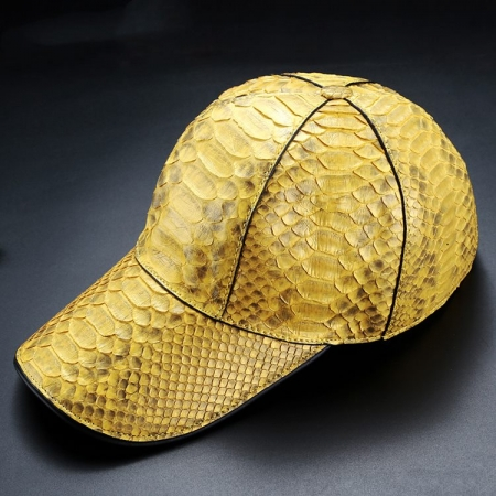Python Skin Baseball Cap-Yellow