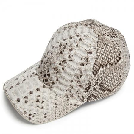 Python Skin Hat Baseball Cap-White