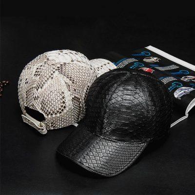 Snakeskin Hat, Python Skin Hat Baseball Cap