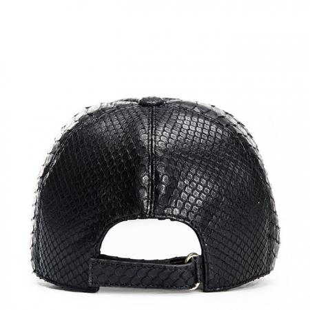 Snakeskin hat-Black-Back