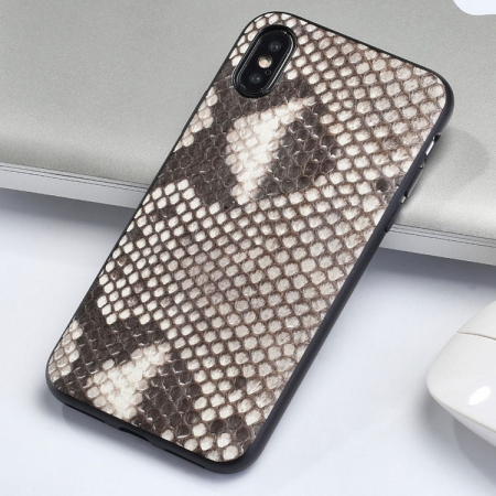 Snakeskin iPhone X Case-White