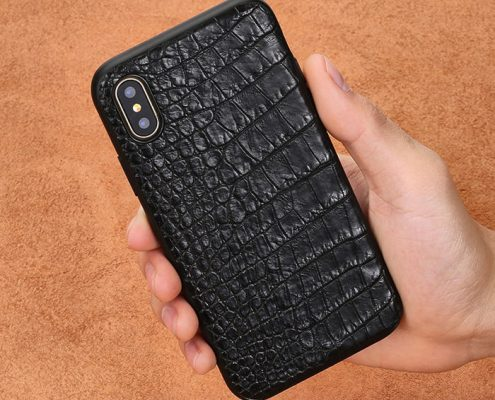 iPhone X crocodile skin case