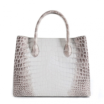 Alligator Handbags Tote Shoulder Bags-White