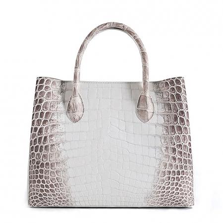 Alligator Handbags Tote Shoulder Bags-White