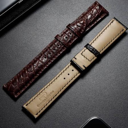 Alligator Leather Bands Straps for iWatch - Details
