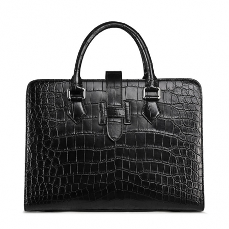 Alligator Leather Briefcase Laptop Business Messenger Bag