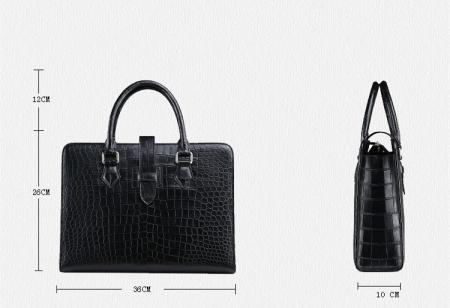Alligator Leather Briefcase Laptop Business Messenger Bag for Men-Size