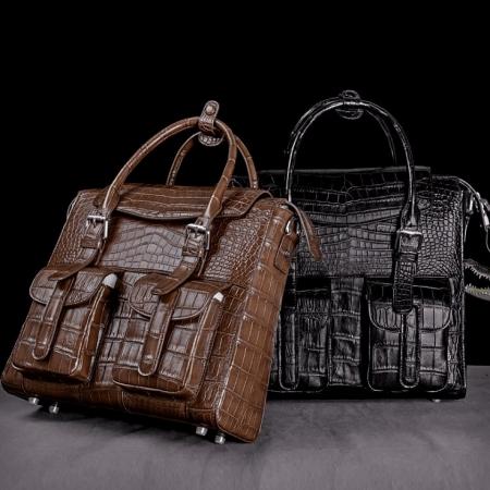 Alligator Leather Crossbody Shoulder Messenger Bag Handbag-Display