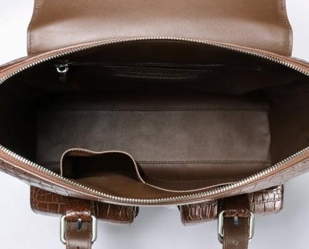 Alligator Leather Crossbody Shoulder Messenger Bag Handbag-Inside