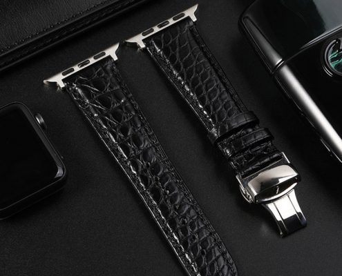 BruceGao Leather apple watch band