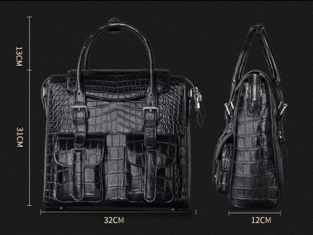 Casual Alligator Leather Crossbody Shoulder Messenger Bag Handbag-Size