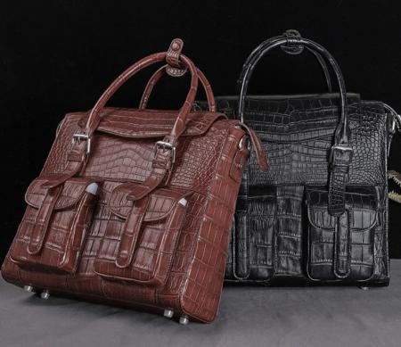 Casual Alligator Leather Crossbody Shoulder Messenger Bag Handbags-Display