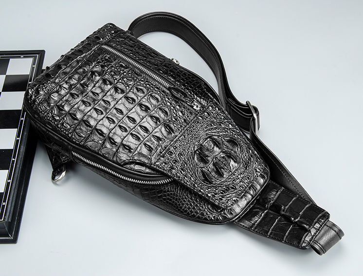 Casual Crocodile Sling Bag Chest Pack Crossbody Shoulder Bag