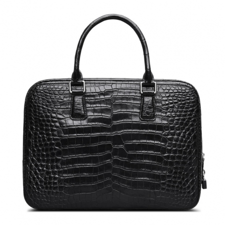 Classic Alligator Leather Briefcase Business Work Bag