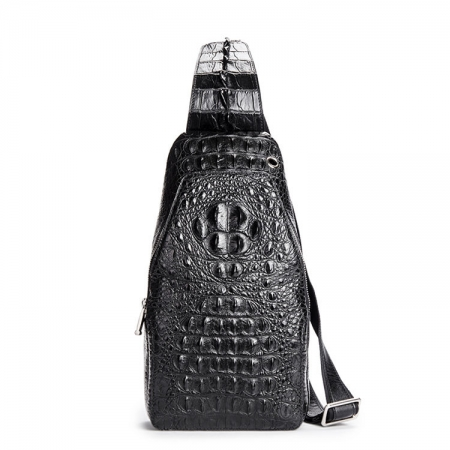 Crocodile Sling Backpack One Strap Travel Sport Crossbody Bag