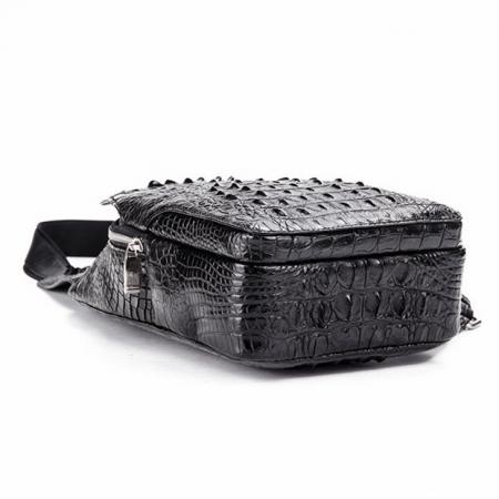 Crocodile Sling Backpack One Strap Travel Sport Crossbody Bag-Bottom