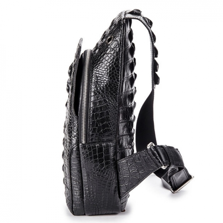 Crocodile Sling Backpack One Strap Travel Sport Crossbody Bag-Side