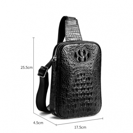 Crocodile Sling Bag, Alligator Sling Bag-Size