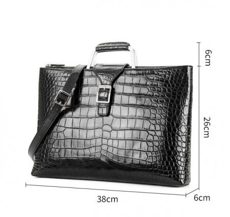 Fashion Alligator Briefcase Shoulder Cross-body Laptop Business Bag for Men-Size