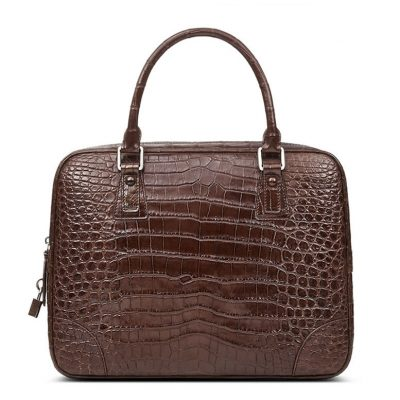 Genuine Alligator Leather Briefcase Laptop Bag for Men