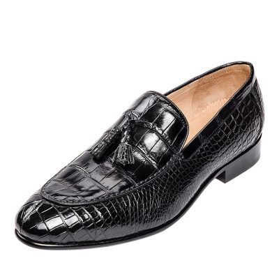 Genuine Alligator Skin Slip-on Loafer Dress Shoes
