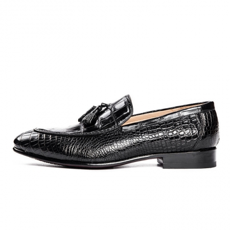 Genuine Alligator Skin Slip-on Loafer Dress Shoes-Side