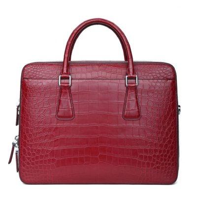 Top Alligator Leather Briefcase Shoulder Laptop Business Bag For Men