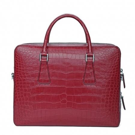 Top Alligator Leather Briefcase Shoulder Laptop Business Bag For Men-Back