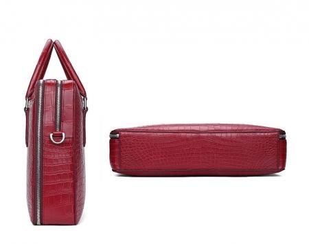 Top Alligator Leather Briefcase Shoulder Laptop Business Bag For Men-Details