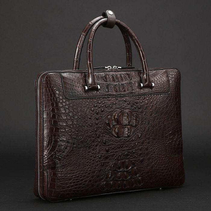 Vintage Crocodile Briefcase-BRUCEGAO