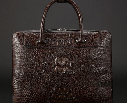 Vintage Crocodile Briefcase for Men