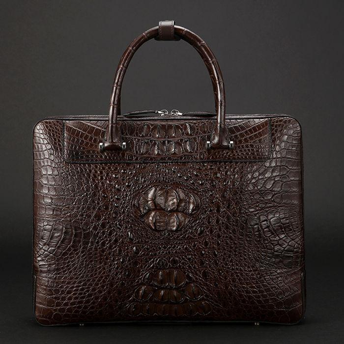 Vintage Crocodile Briefcase for Men