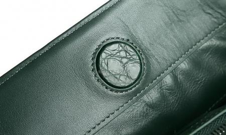 Women's Alligator Leather Handbag Tote Shoulder Bag Crossbody Purse-Details
