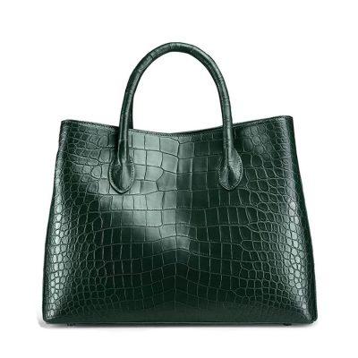 Women's Alligator Leather Handbag Tote Shoulder Bag Crossbody Purse-Green