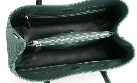 Women's Alligator Leather Handbag Tote Shoulder Bag Crossbody Purse-Inside