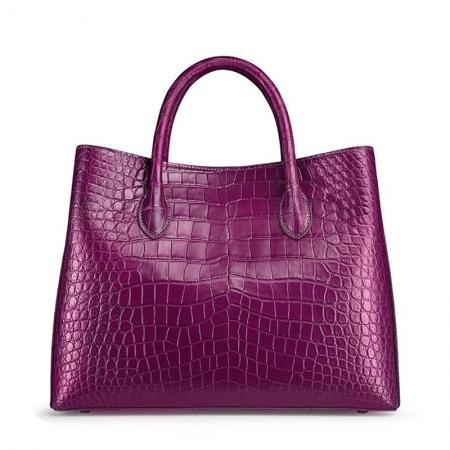 Women's Alligator Leather Handbag Tote Shoulder Bag Crossbody Purse-Purple