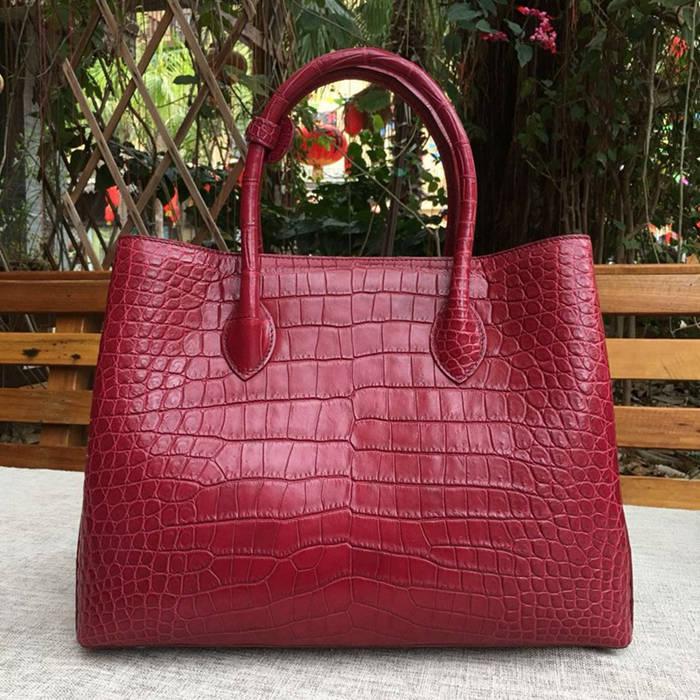 genuine crocodile leather handbag-2018