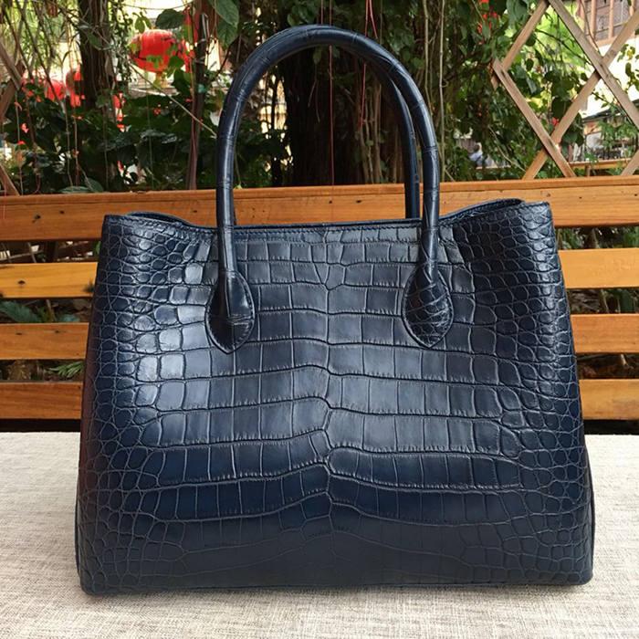 genuine crocodile leather handbag-black-2018