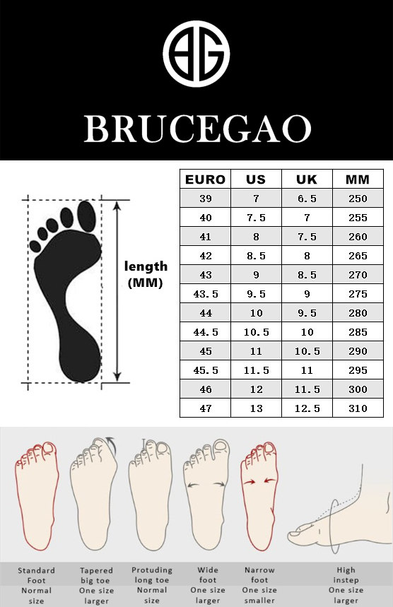 BRUCEGAO's Shoes Size Chart
