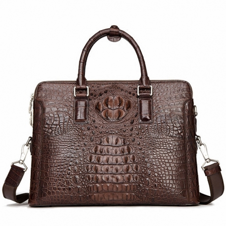 Business Mens Crocodile Leather Briefcase Bag Handbag Laptop Shoulder Bag